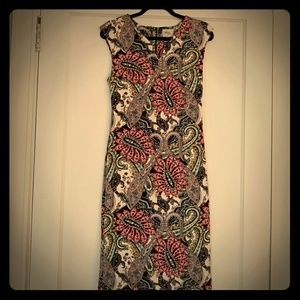 Multi-Color printed fitted dress!! Worn only once
